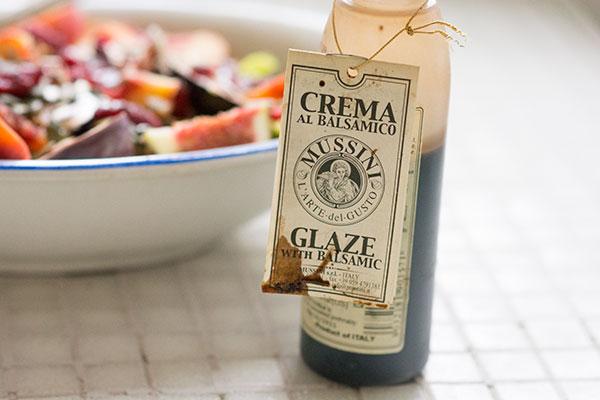 Figensalat med abrikoser glaze balsamic