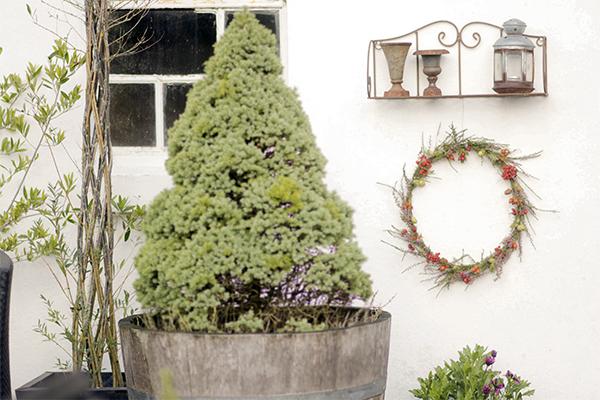 efterårskrans dekoration DIY