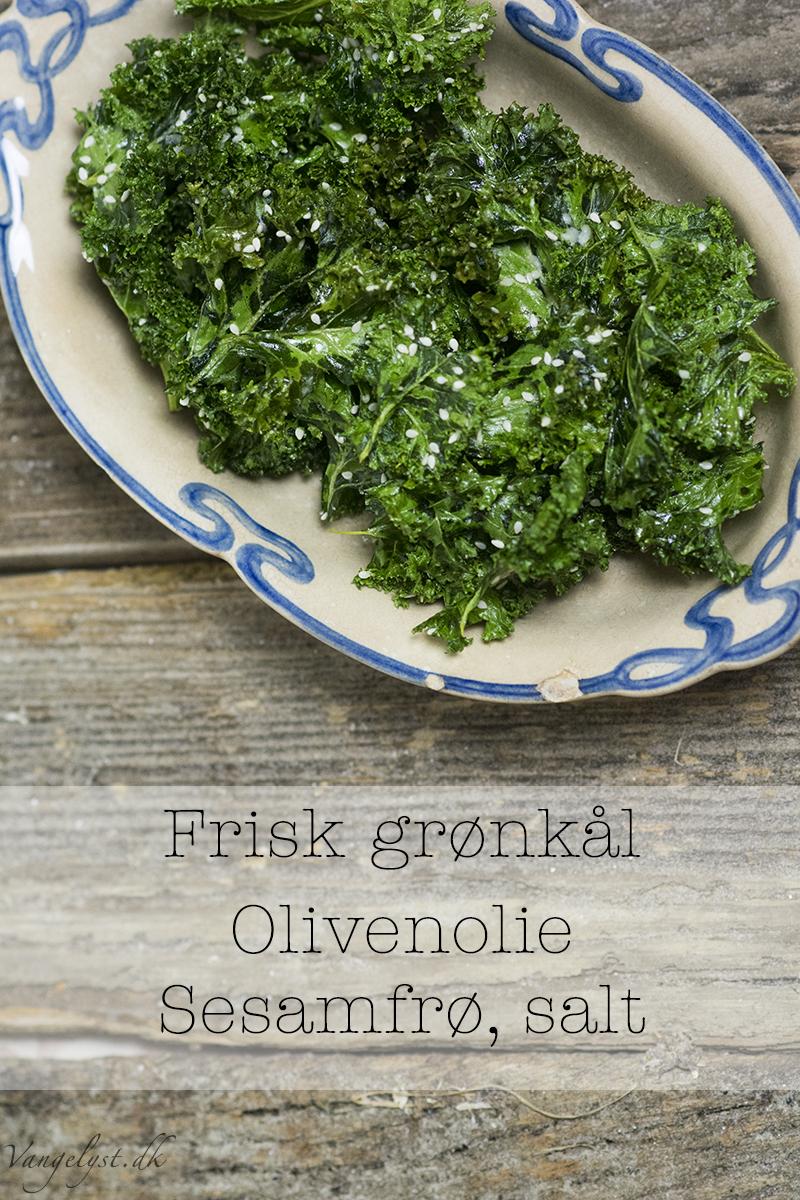 Opskrift paleo grønkålschips ingredienser vangelyst