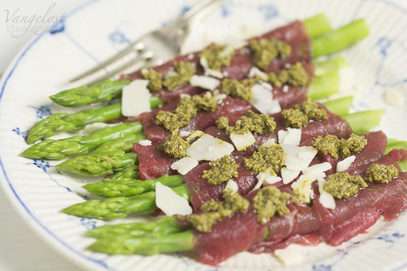 paleo forret carpaccio oksefilet asparges