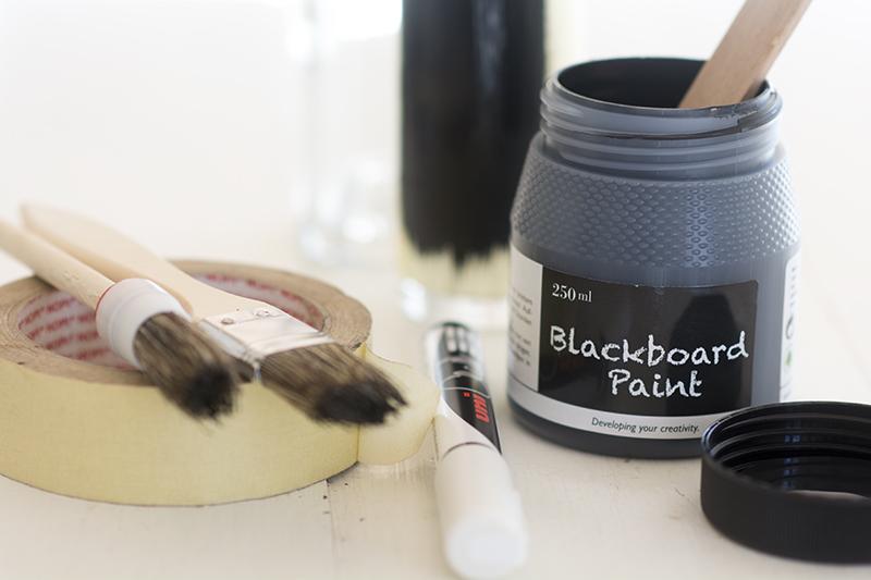 Tavlemaling flasker blackboard paint - www.vangelyst.dk