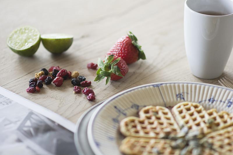 paleo vafler morgenmad frugt