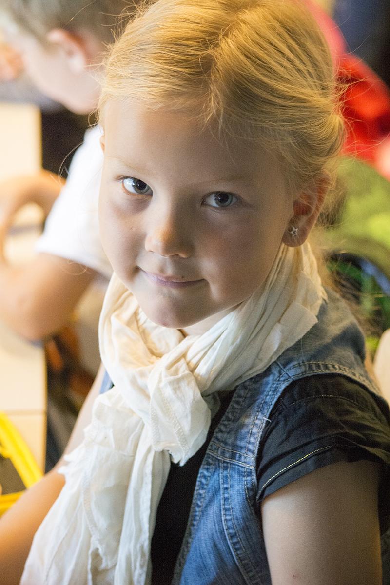 Alma's første skoledag 2014