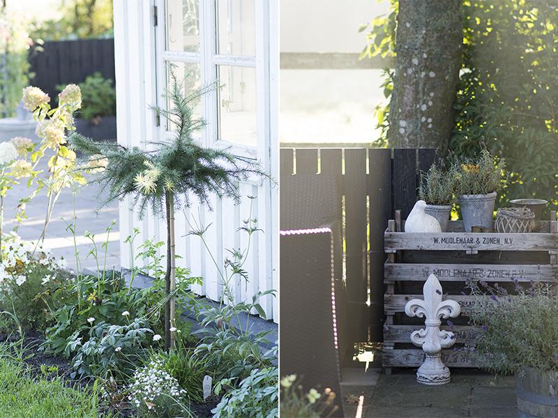 Vangelyst's terrasse ved havehuset - www.vangelyst.dk
