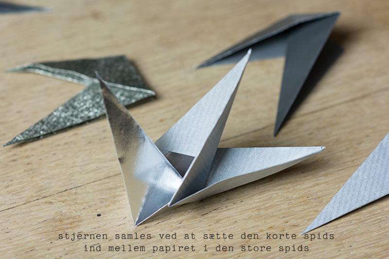 Stjerne foldet i papir - www.vangelyst.dk