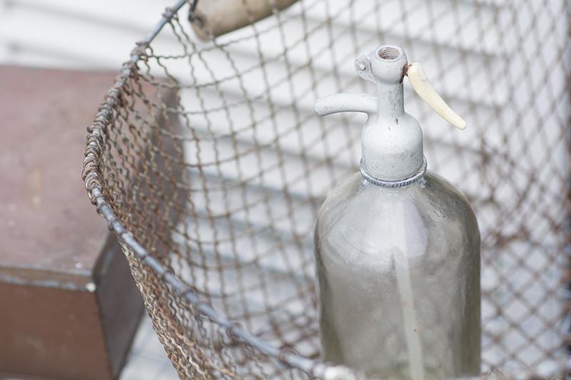Gammel fransk sifonflaske - www.vangelyst.dk