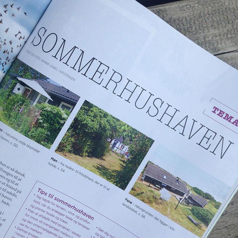 Sommerhus på Fanø i magasinet Haven Haveselskabet - www.vangelyst.dk