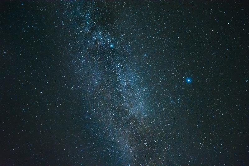 Fotografering af stjernehimmel-mælkevejen - www.vangelyst.dk