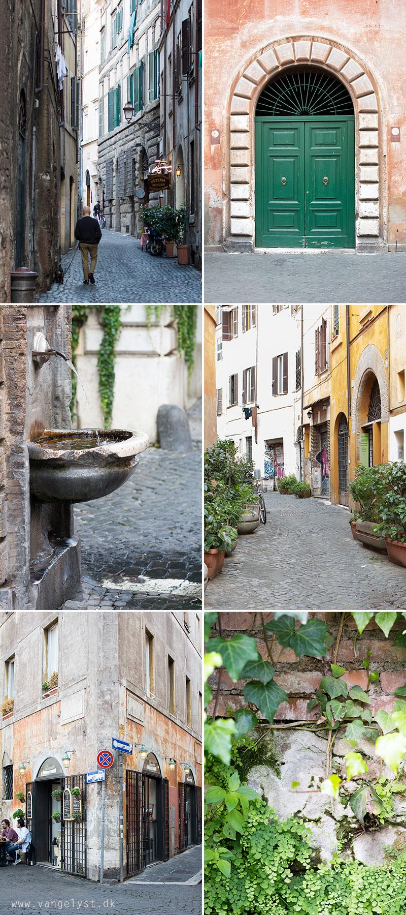 Smalle gader og detaljer i Rom - www.vangelyst.dk