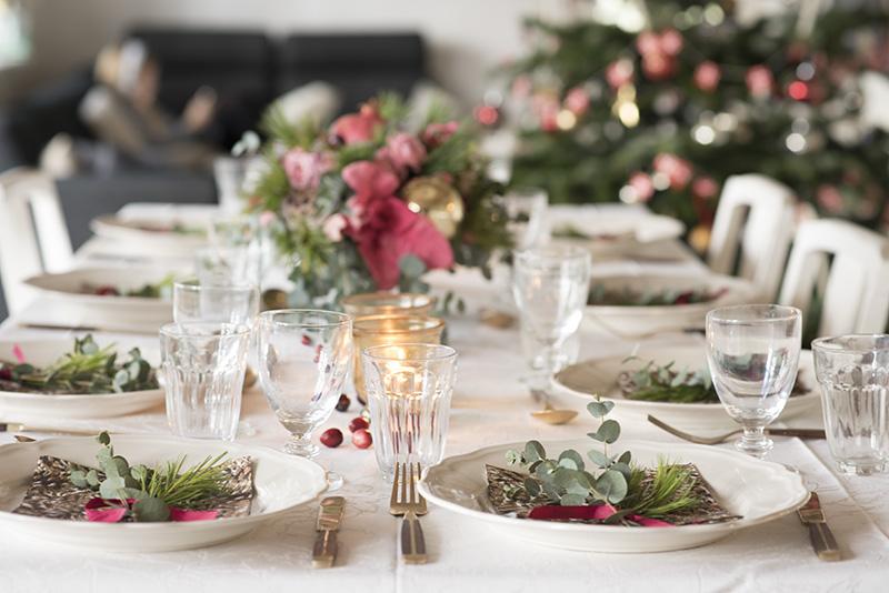 Årets julebord borddekoration - www.vangelyst.dk