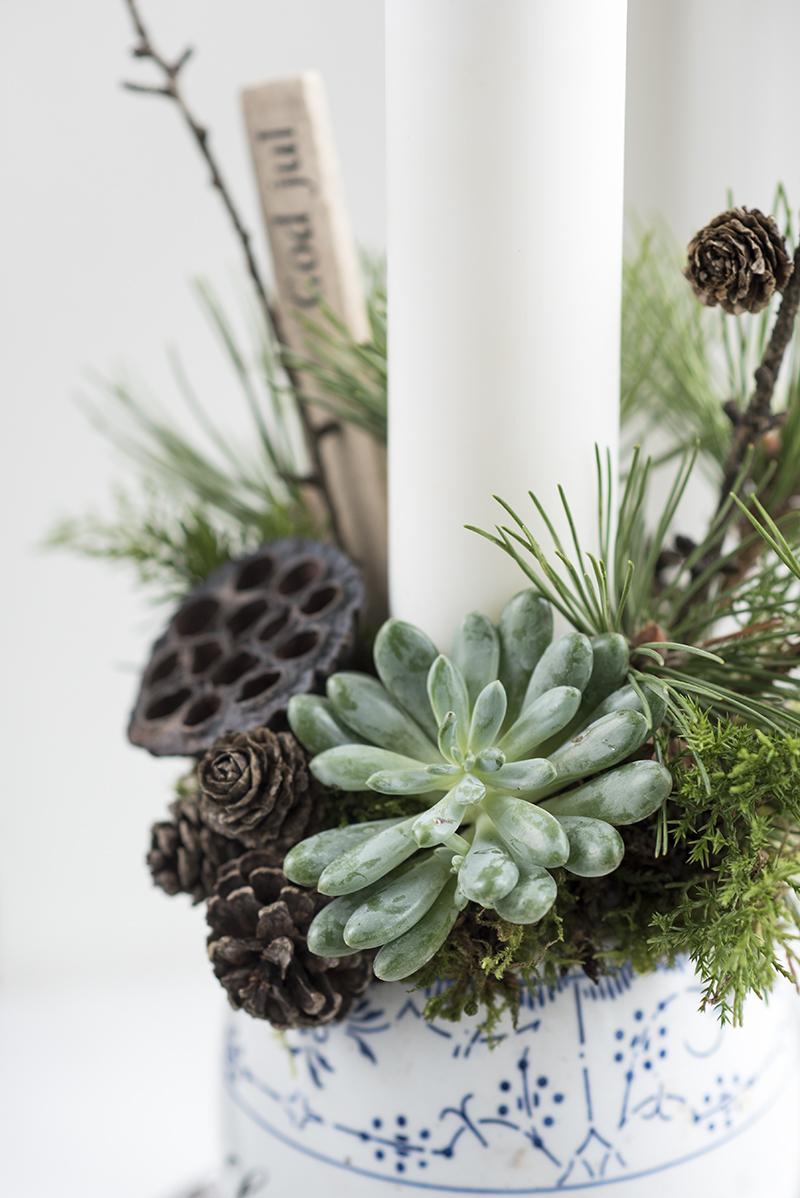 Juledekoration af naturlige materialer - www.vangelyst.dk
