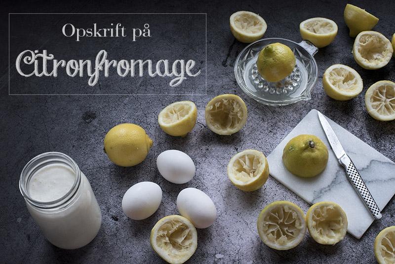 Hjemmelavet citronfromage med æg - www.vangelyst.dk