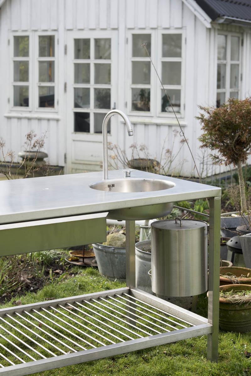 Udekøkken rustfrit stål - www.vangelyst.dk