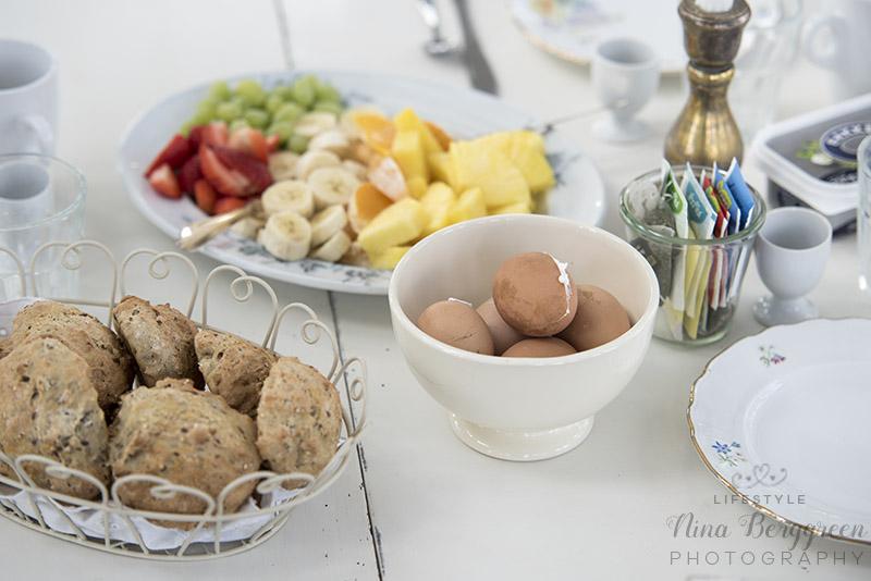 Morgenmad i havehuset www.vangelyst.dk