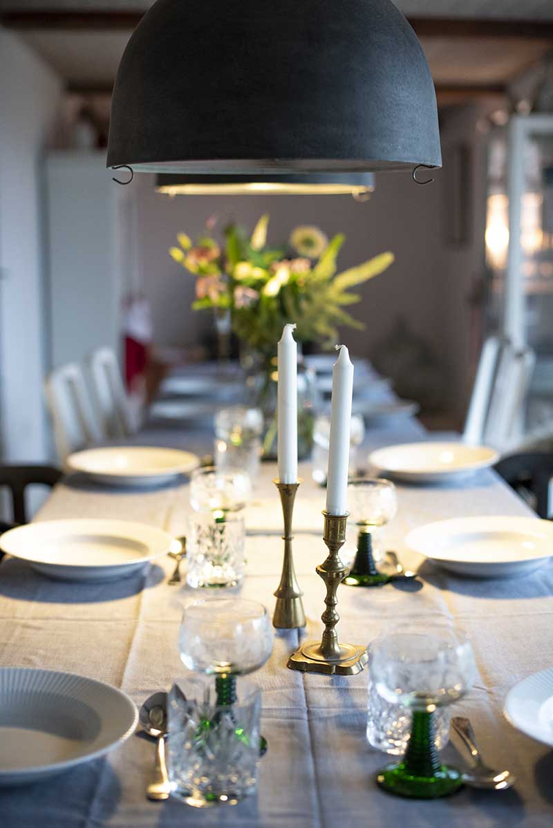 Københavnerlamper over spisebord