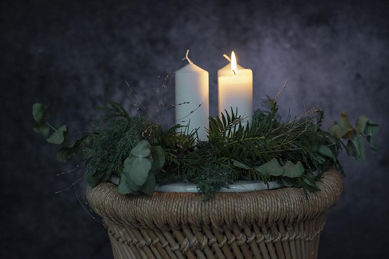 adventskrans inspiration - www.vangelyst.dk