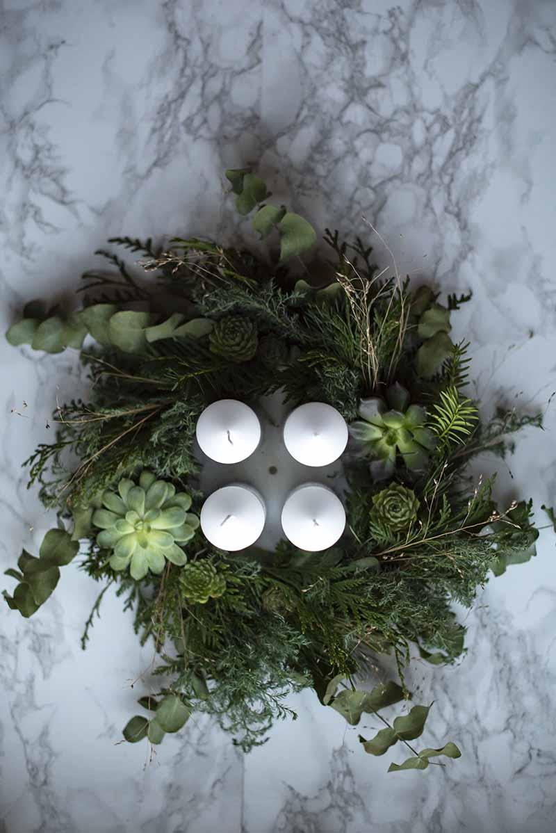 eaucalyptus adventskrans - www.vangelyst.dk