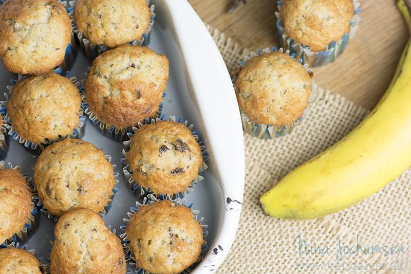 Banankage i muffinforme